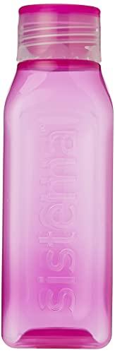 Sistema Botella Cuadrada, apilable, 470ml, Colores Surtidos (varía según el envase), 1Unidad