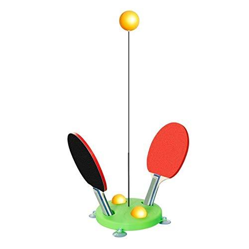 GADHNN Juego de Pelota de Tenis de Mesa Equipo de Entrenador Raqueta Niño Chica Interior Ping-Pong PRÁCTICA PRÁCTICA Deporte AIRNUDOS Juguetes Juguetes (Color : 1set)