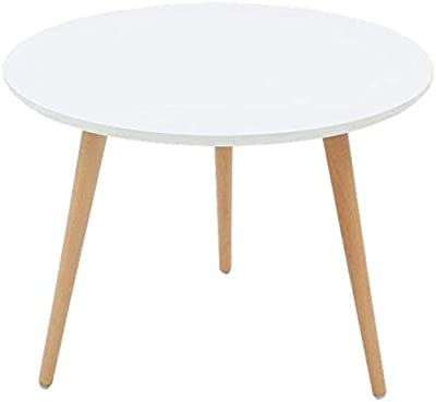 Pusaman Round Coffee Table Coffee Table, White Planter/negotiating Table/Bedside Table, 60x45 cm