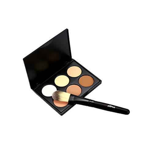 Concealer Palettes, Fulltime® MIni 6 Couleurs Base De Crème De Maquillage Palettes Mat Le Contour Du Visage Cosmétique Contour Palette Anti-cernes (A)