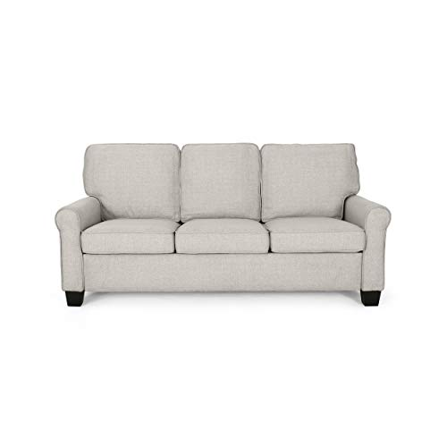 Christopher Knight Home Bridget 3-Seater Sofa, Traditional, Modern, Beige, Dark Brown