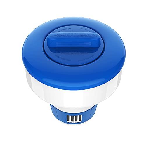 Housolution 7-inch Floating Chlorine Dispenser, Adjustable Release Tablet...