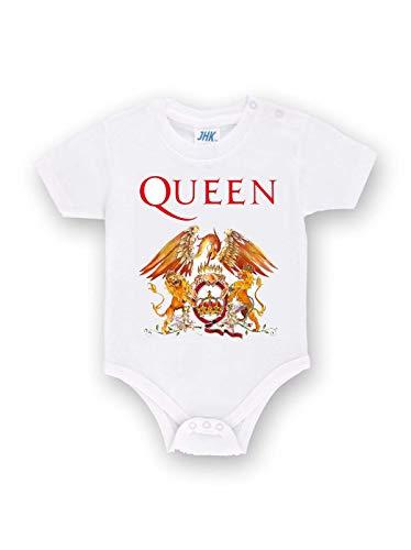 Body Personalizado de los Queen Band Metal de algodón para bebé niña Bianco 9 Mes