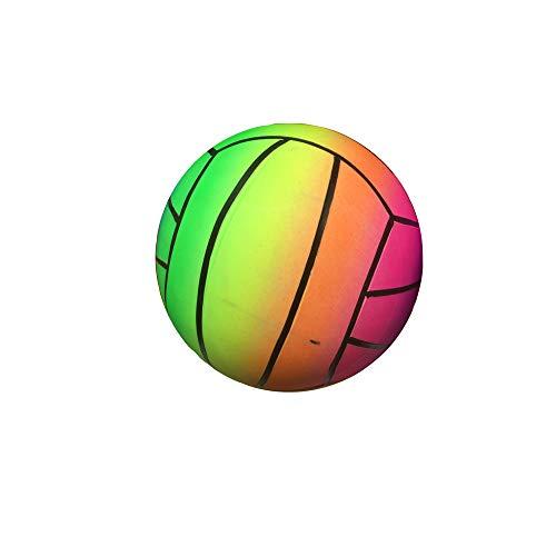 SPORT SIDE- SPORTSIDE - Balón de Volley Rainbow desinflado – Multicolor – 46690-21 cm – Juego al Aire Libre a Partir de 36 Meses