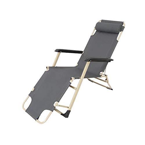 YQQ Lit Pliant Chaise Pliante Heure du Déjeuner Fauteuil De Repos Petit Lit De Camp 178 * 76 * 66CM (Couleur : Gray)
