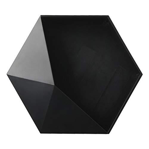 Danme - Mensola da Parete Geometrica Esagonale, Stile Nordico Nero