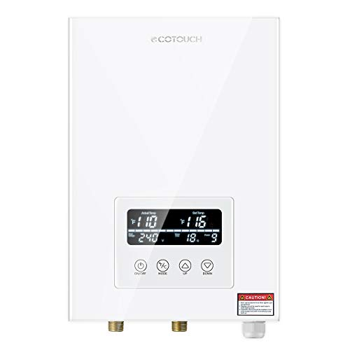 Tankless Water Heater Electric ECOTOUCH 9KW 240V On Demand Water Heater Self-Modulating Instant