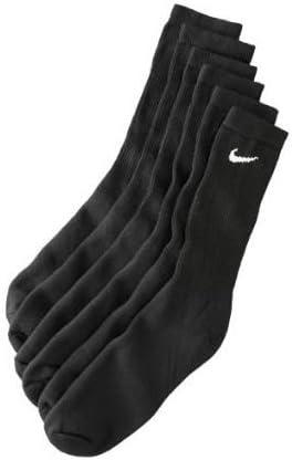Nike Mens Moisture Wicking Crew Socks - 6 Pack/Black