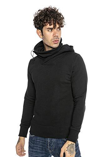 Redbridge Sudadera con Capucha para Hombre Suéter Jersey con Cuello Alto Negro S