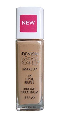 Revlon Nearly Naked Make Up Spf 20 Foundation, True Beige