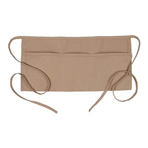 Fame Original 3 Pocket Waist Apron 18138 for Adults in Khaki - One Size Fits Most - Unisex (F9-83500)