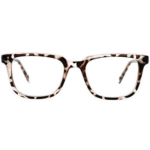 TIJN Blue Light Blocking occhiali per donne e uomini lenti anti-affaticamento occhi uso computer occhiali 01-leopardato 90