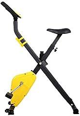 AYHa Plegable Bicicleta estática, cubierta de bicicleta de ejercicios de resistencia con silenciosa ajustable Monitor LED con respaldo apto para uso interior ejercicio aeróbico,B