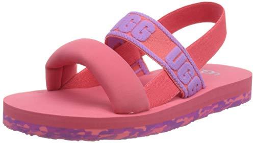 UGG K ZUMA SLING Sandale, Strawberry Sorbet Paint Swirl, 22 EU