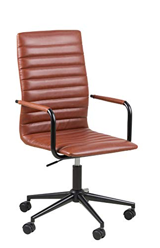 Amazon Brand - Movian Dubna - Silla de escritorio, 58 x 58 x 103 cm (largo x ancho x alto), marrón