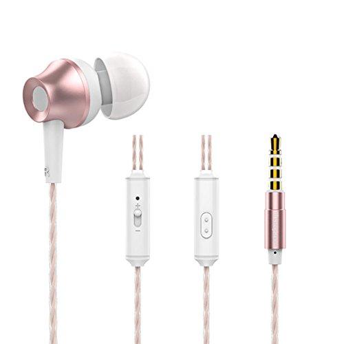 Tefamore Auriculares estéreo con micrófono de 3.5mm para Universal teléfono celular