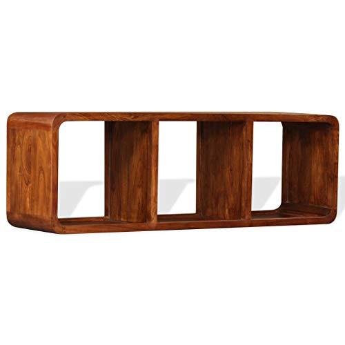 vidaXL Massivholz TV Schrank Palisander-Finish Fernsehschrank Fernsehtisch Lowboard TV Möbel Tisch Board Sideboard HiFi-Schrank 120x30x40cm