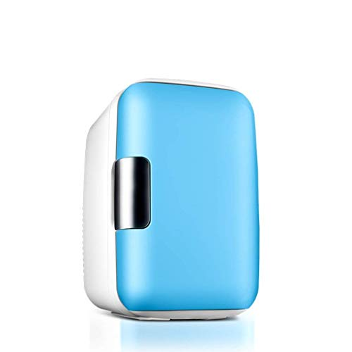 Portable Refrigerator 6L Mini Fridge Cooler Freezer and Warmer TG for Car Home Travel Camping Picnic,Blue (Size : Pink)