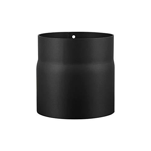 LANZZAS Ofenrohr 150 mm Verlängerung - im Durchmesser Ø 150 mm - Farbe: schwarz - Rauchrohr Verlängerung