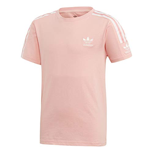 Adidas New Icon Tee T-shirt, kinderen, glory pink/wit, 8-9A