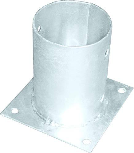Support de poteau sur plaque ronde 101x150 mm