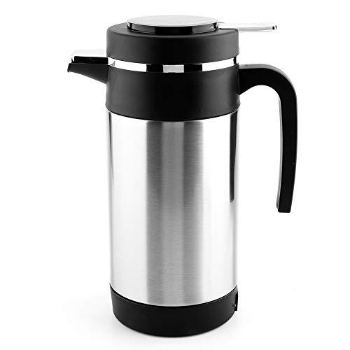 Bouilloire électrique, Bouilloire électrique, antirouille et Durable 12V en Acier Inoxydable 1000ML Bouche étanche pour Tasse de Chauffage de l'eau de thé de café