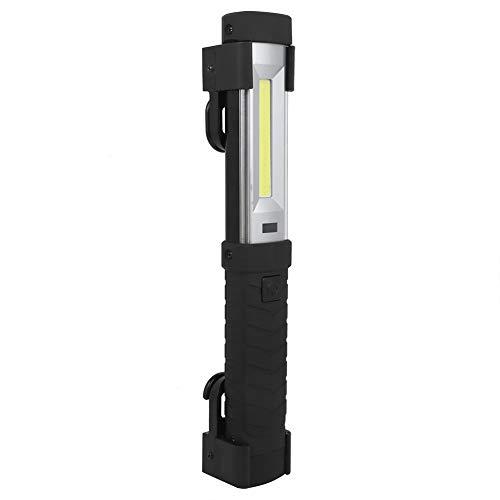 Luz de inspección magnética fácil de usar, modos de iluminación negra Cable USB 24.5 cm Batería recargable incorporada con ABS para acampar