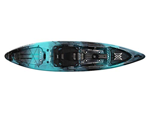 Pescador Pro 12 | Sit on Top Fishing Kayak with Adjustable Lawn Chair Seat | Large Front and Rear Storage | 12' | Dapper