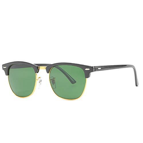 HDSJJD Hombres Y Mujeres Moda Gafas De Sol Polarizadas Retro Medio Marco Conducción Clásica Al Aire Libre UV400,G