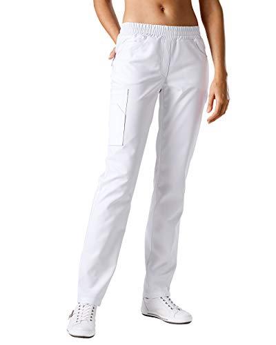 CLINIC DRESS Hose Schlupfhose für Damen Stretch weiß 36