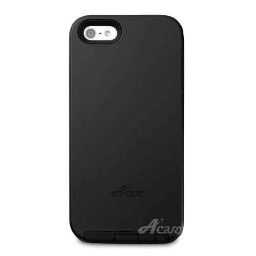 Acase iPhone5 / iPhone5S ケース Dual Layer Protection Hybrid tough case for Apple iPhone 5 / iPhone 5S ブラック 耐衝撃 衝撃吸収 モデル ハイブリッド タフ ケース