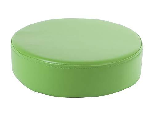 1839 Pouf rond - vert, où les enfants peuvent se détendre, douceur et confort d'utilisation, fond antidérapant