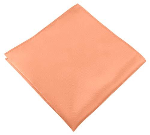Helido Einstecktuch für Herren, 30 x 30 cm, Stoff-Taschentuch passend zu Anzug/Sakko – als Ergänzung zum Tuch eignen sich Fliege oder Krawatte (Apricot)
