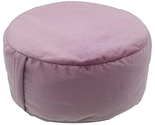 Cojin Yoga Meditation Cushion para Yoga Cojin Zafu Meditación Altura 15 Cm Relleno de Espelta Cubierta en Algodon Lavable Densidad Natural Firme, Estable y Cómodo
