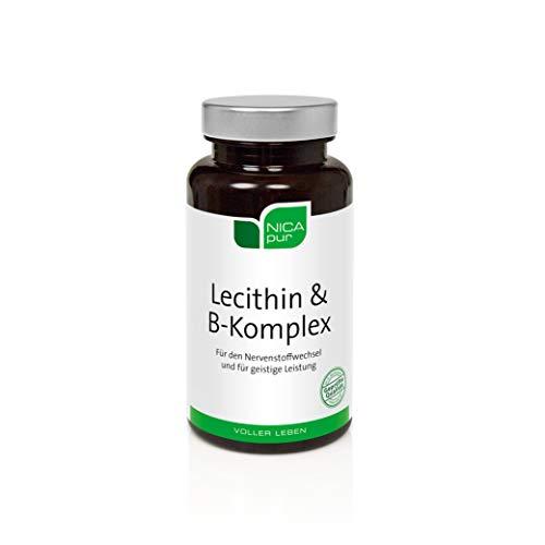 NICApur Lecithin & B-Komplex I zur Unterstützung des Nervensystems I 60 Kapseln