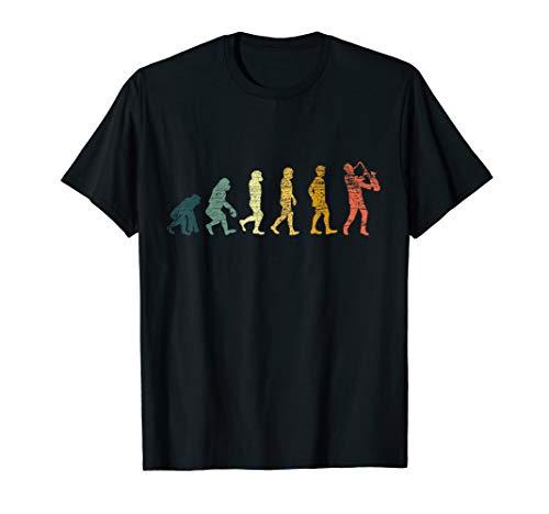 Saxophonspieler Saxophonist Musik Evolution Saxophon T-Shirt