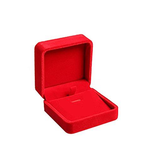 Demarkt Schmuck Etui Schmuckschachtel Samt Halskette Schmuckkästen Schmuck Etui Schmuck Halskette Geschenk Storage (Rot)