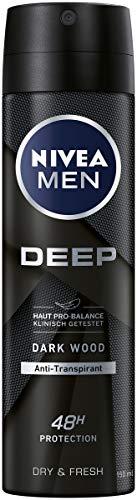 NIVEA MEN DEEP Dry & Fresh Deo Spray (150 ml), Antitranspirant für ein sauberes Hautgefühl, Deodorant mit 48h Schutz