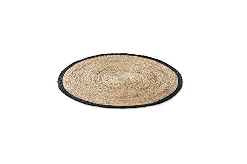 LIFA LIVING handgewebter Teppich rund, Jute Teppich aus natürlichem Hanf, biologisch und...