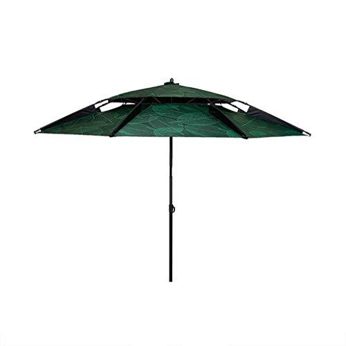 POLBB Outdoor Paraplu Visparaplu 2.2/2.4 M Dubbele Laag Zonnebrandcrème UV Bescherming Outdoor Visserij Gear Regendichte Winddichte Paraplu Reizen Strand Paraplu