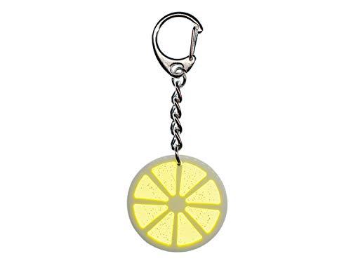 Miniblings Zitrone Zitronenscheibe Limette Schlüsselanhänger - Handmade Modeschmuck I Anhänger Schlüsselring Schlüsselband Keyring - Zitrone Zitronenscheibe Limette