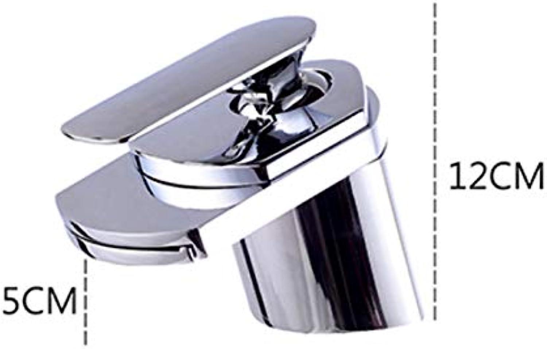 ROKTONG Faucet Waterfall Faucet Hot And Cold Wash Basin Bathroom Basin Wash Basin Faucet Above Counter Basin, B