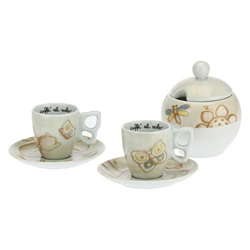 THUN -Set 2 tazzine caffè e zuccheriera Elegance