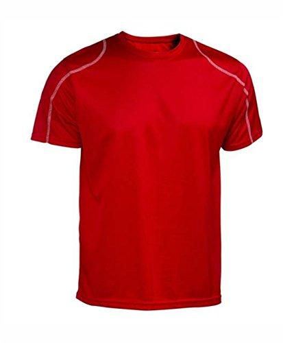 Asioka 75/09 Camiseta de Manga Corta, Unisex Adulto, Rojo, XXL