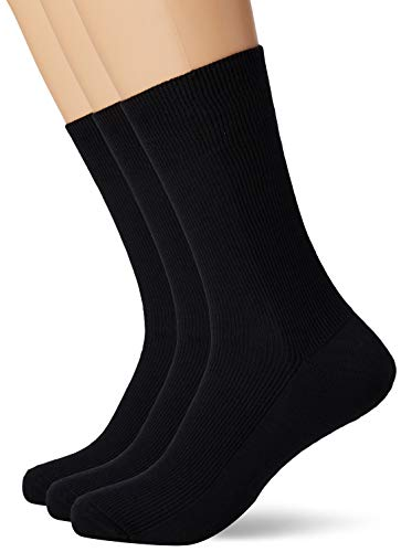 Living Crafts Bio-Baumwoll-Socken 39/40, black(3x)