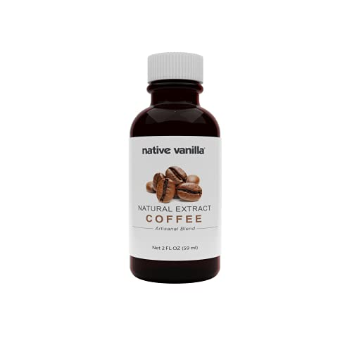 Native Vanilla - Pure Coffee Extract – 2 oz - Perfect for Cooking, Baking, and Dessert Crafting