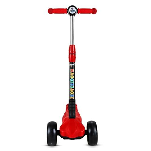Kick scooter Kids scooter 3 hjull scooter, 4 höjdjusterbara PU-hjul Extra breda däck Bästa gåvor för barn, Passor Pojkar Girls3-13 år