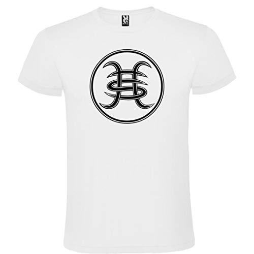 ROLY Camiseta Blanca con Logotipo Héroes del Silencio Hombre 100% Algodón Tallas S M L XL XXL Mangas Cortas (XL)
