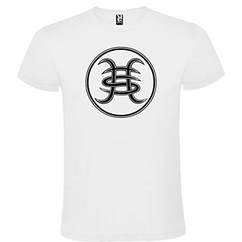 ROLY Camiseta Blanca con Logotipo Héroes del Silencio Hombre 100% Algodón Tallas S M L XL XXL Mangas Cortas