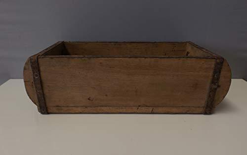 Formano dekorative Lade Ziegelform antik 15x32cm aus Holz naturbraun